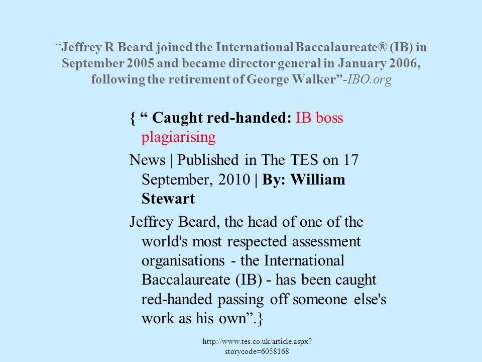 { Caught red-handed: IB boss plagiarising