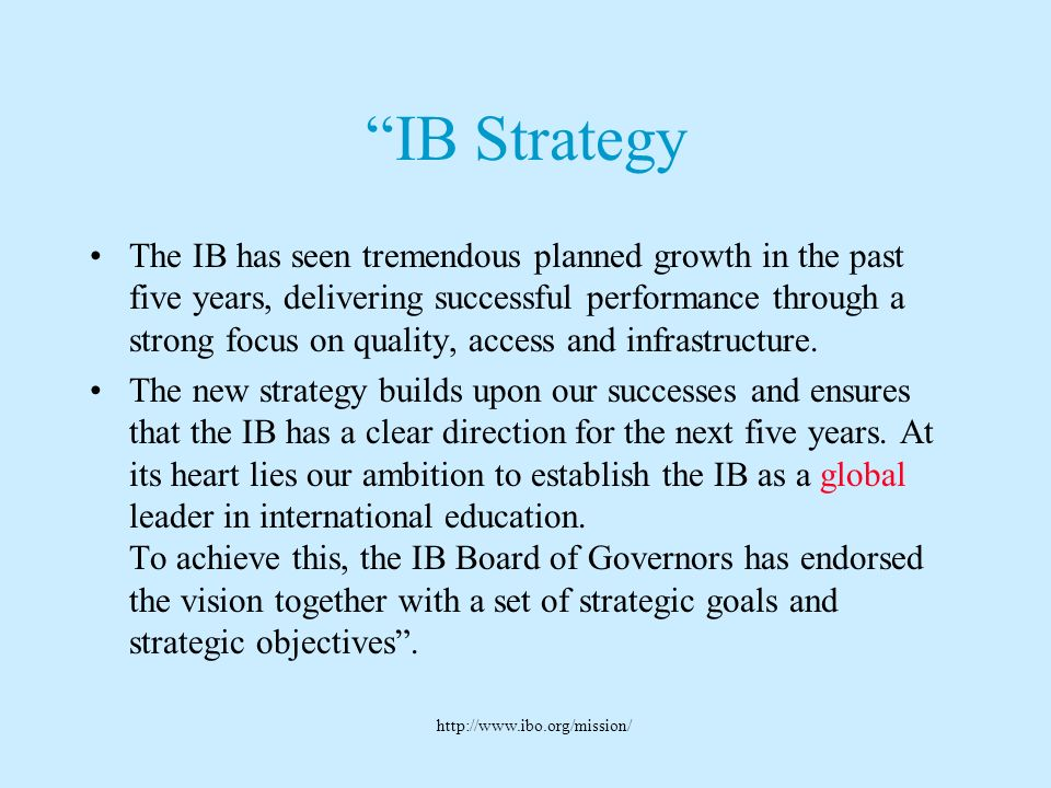 IB Strategy