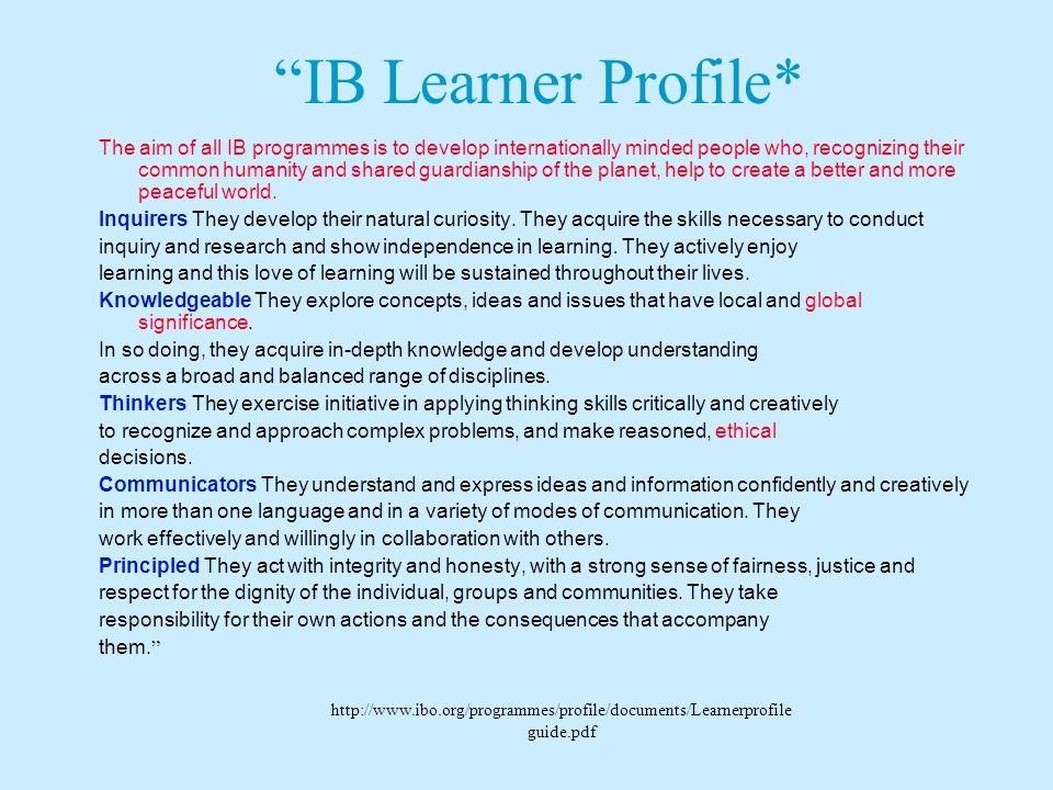 IB Learner Profile*