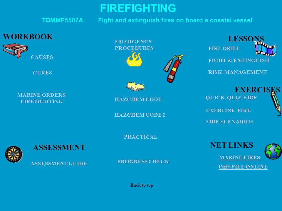 FIREFIGHTING WORKBOOK LESSONS EXERCISES NET LINKS ASSESSMENT