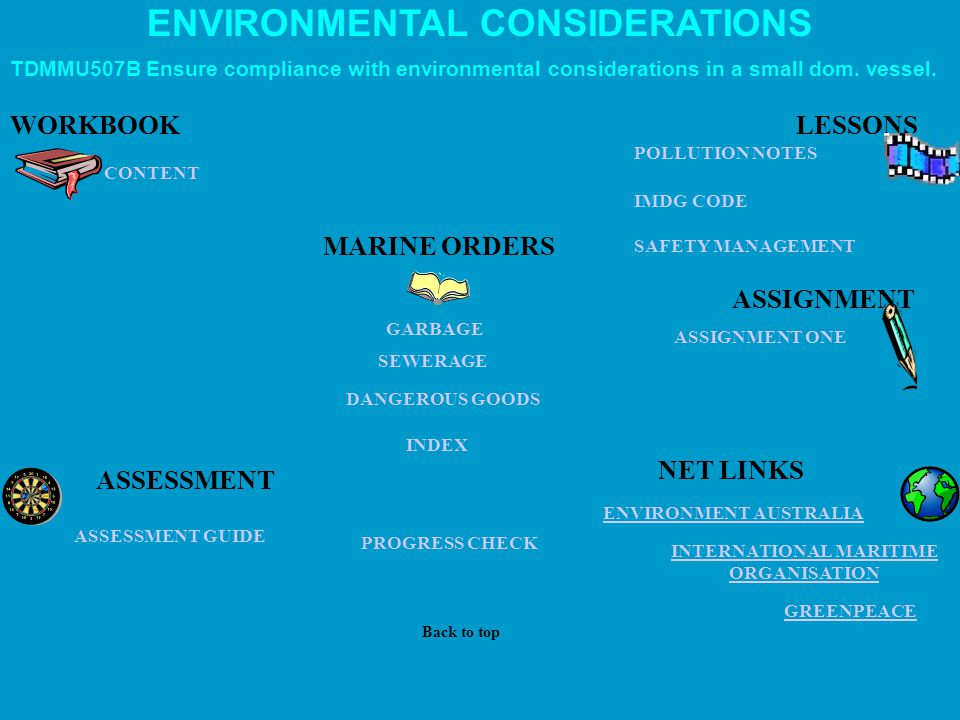 ENVIRONMENTAL CONSIDERATIONS INTERNATIONAL MARITIME ORGANISATION