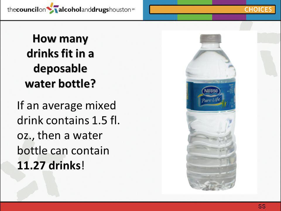 How many drinks fit in a deposable water bottle