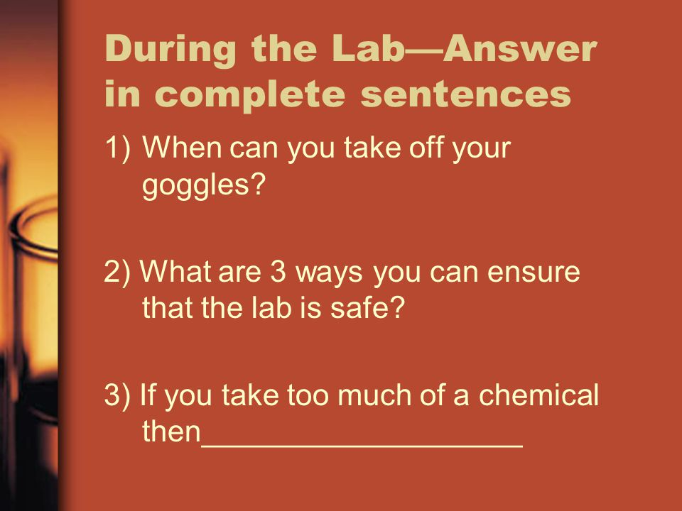 During the Lab—Answer in complete sentences