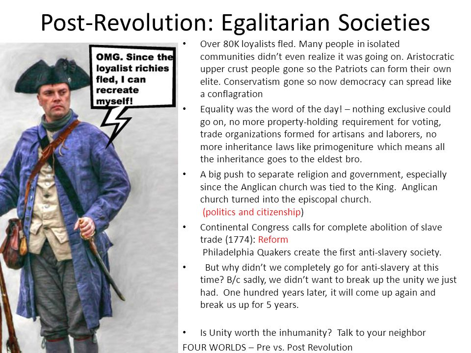Post-Revolution: Egalitarian Societies