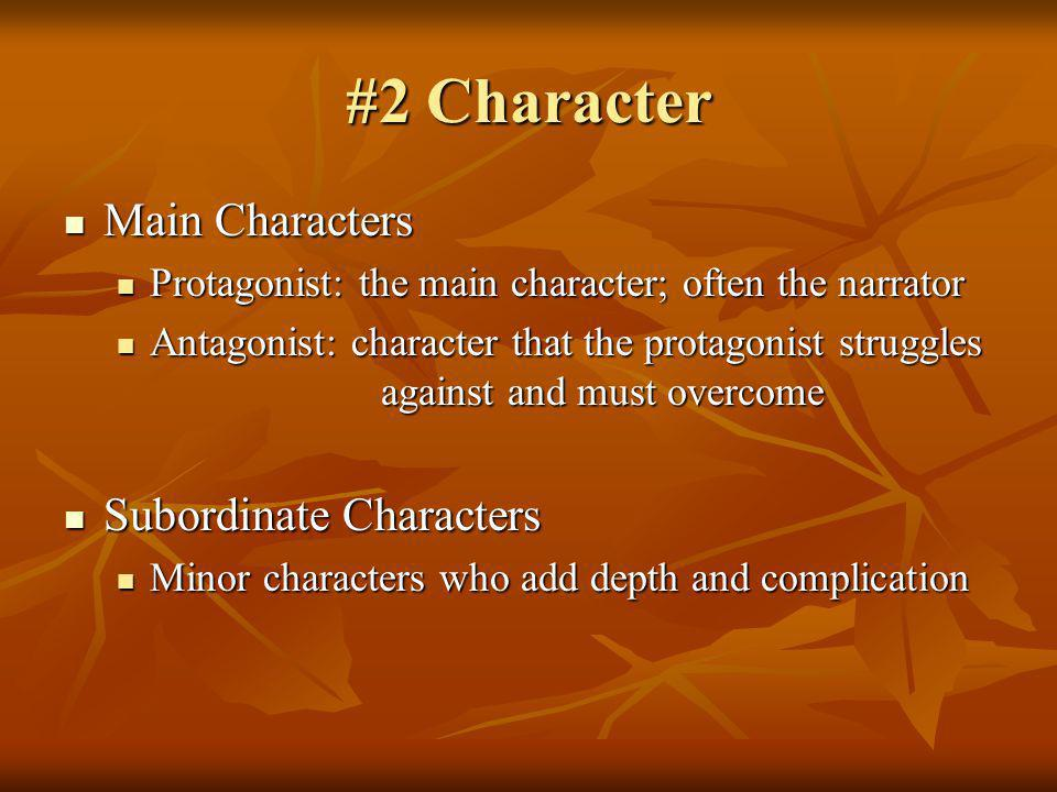 #2 Character Main Characters Subordinate Characters