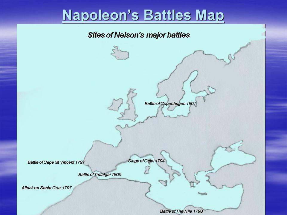 Napoleon's Battles Map