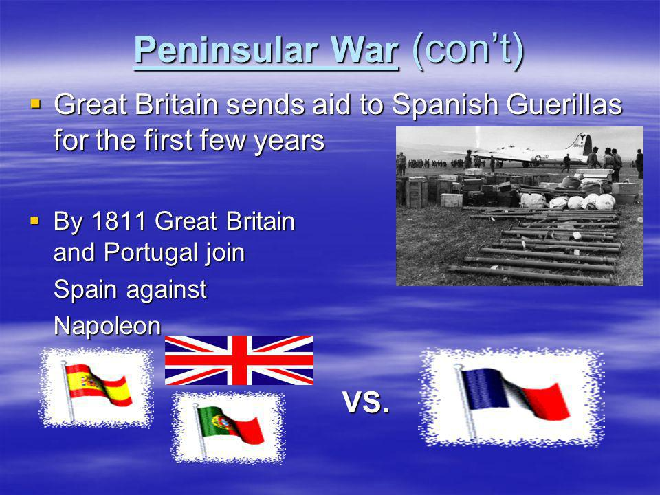Peninsular War (con't)
