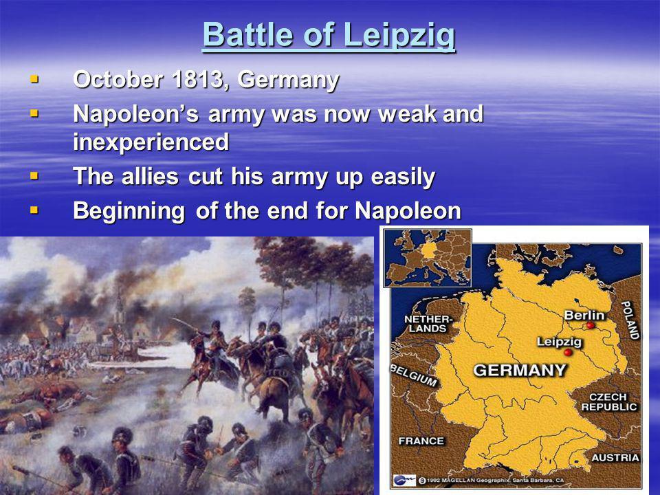 Battle of Leipzig October 1813, Germany