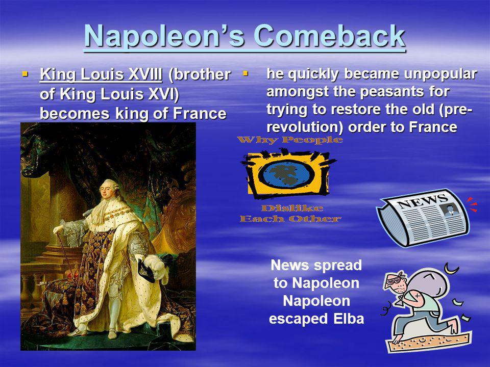 News spread to Napoleon