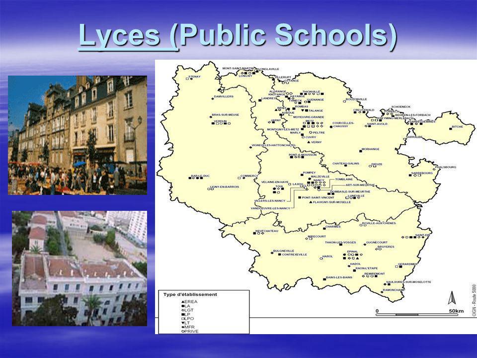 Lyces (Public Schools)