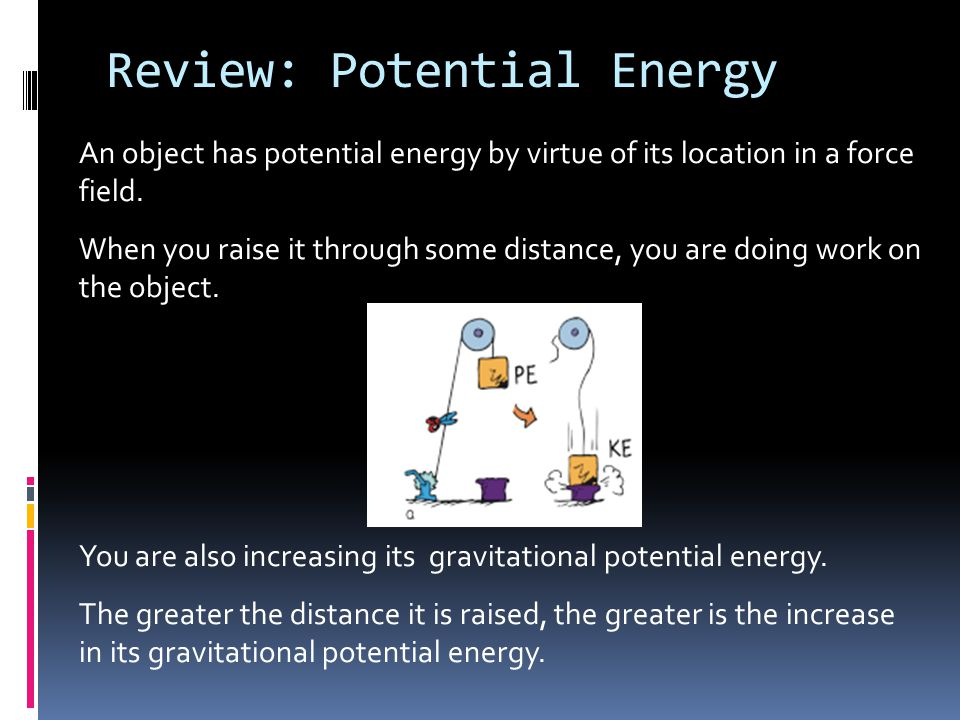 Review: Potential Energy