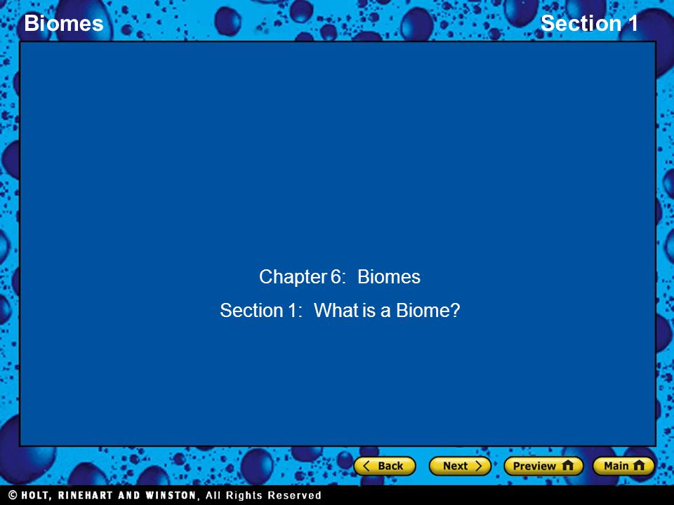 Section 1: What is a Biome