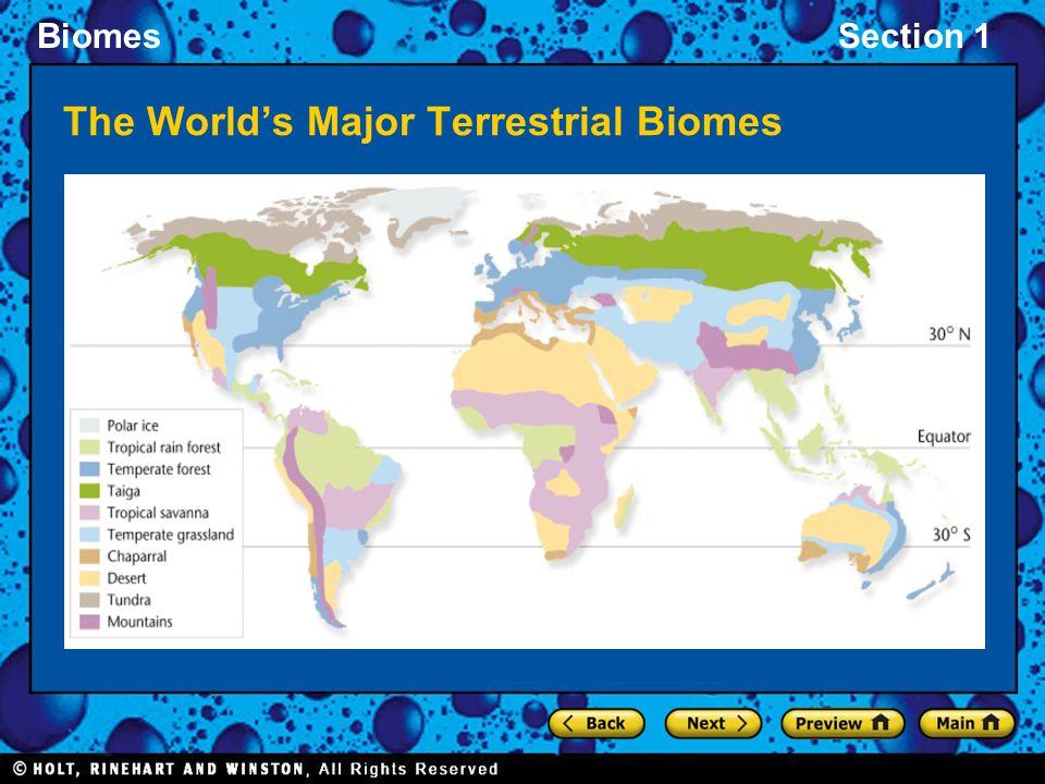 The World's Major Terrestrial Biomes