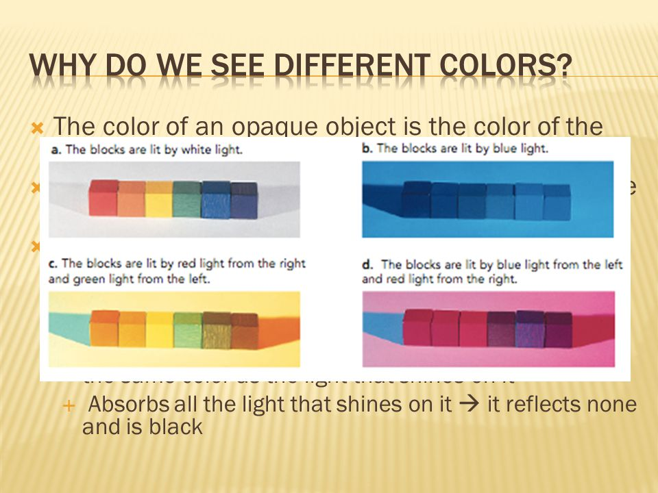 Why do we see different colors
