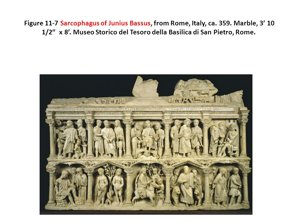 Figure 11-7 Sarcophagus of Junius Bassus, from Rome, Italy, ca. 359