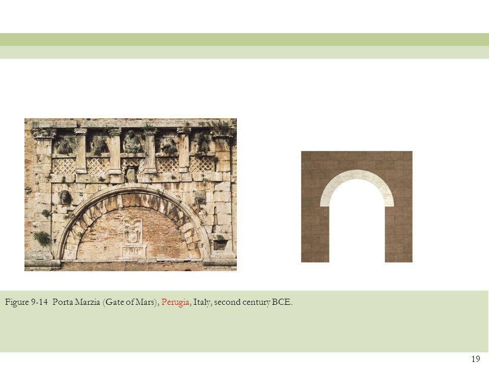 Figure 9-14 Porta Marzia (Gate of Mars), Perugia, Italy, second century BCE.