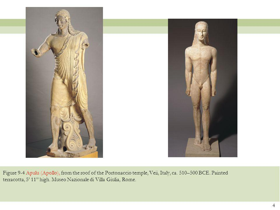 Figure 9-4 Apulu (Apollo), from the roof of the Portonaccio temple, Veii, Italy, ca.