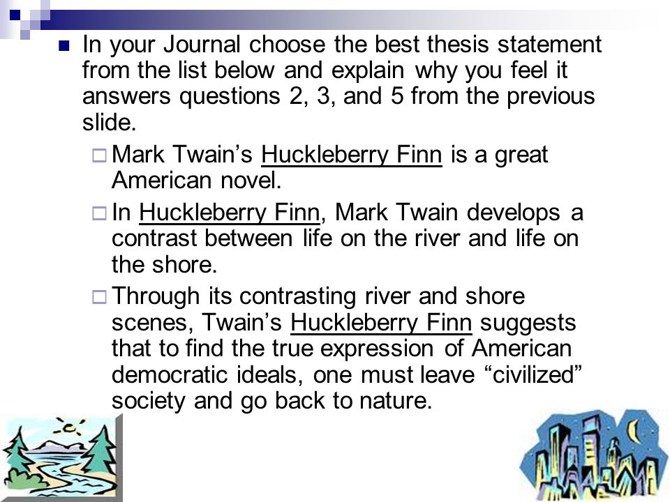 create a thesis statement for an essay