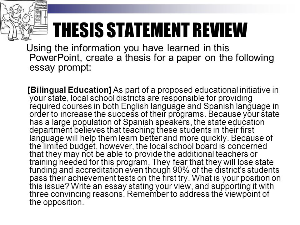 Critical Analysis Essay Example Paper  Thesis Statement Review Federalism Essay Paper also Sample High School Admission Essays What Is A Thesis Statement  Ppt Download How To Write A Thesis Sentence For An Essay