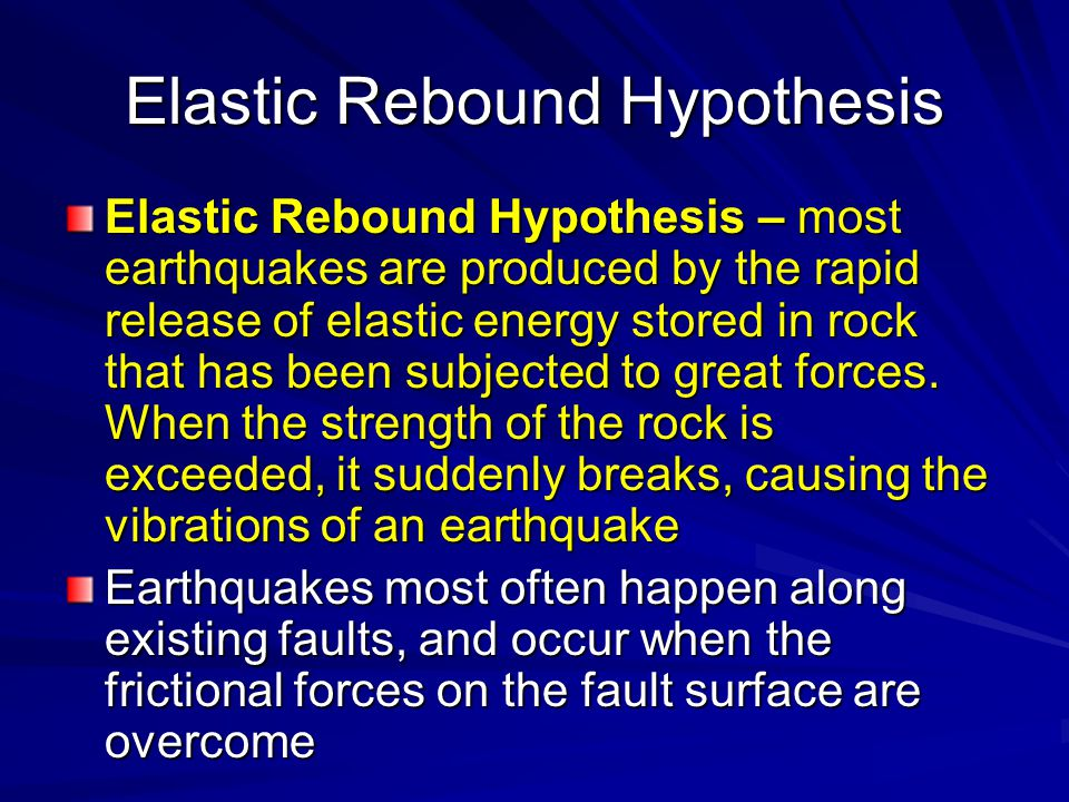 Elastic Rebound Hypothesis