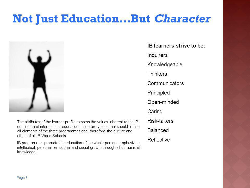 Not Just Education…But Character