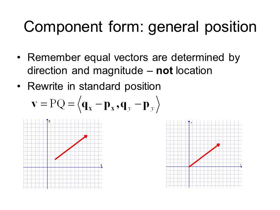 Component form: general position