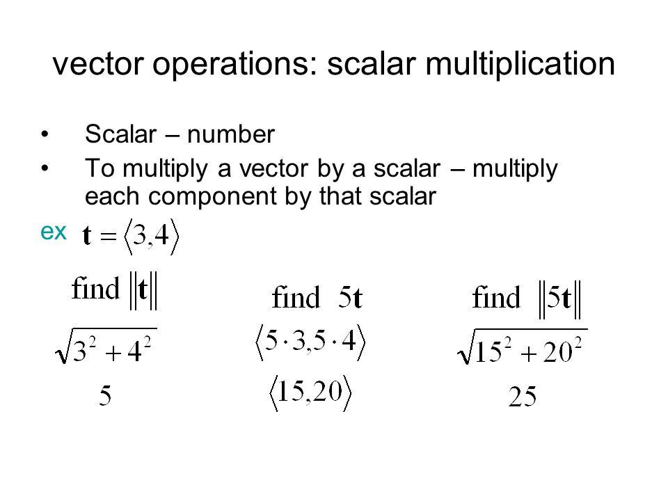 vector operations: scalar multiplication