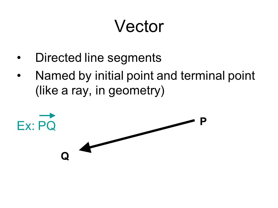 Vector Directed line segments