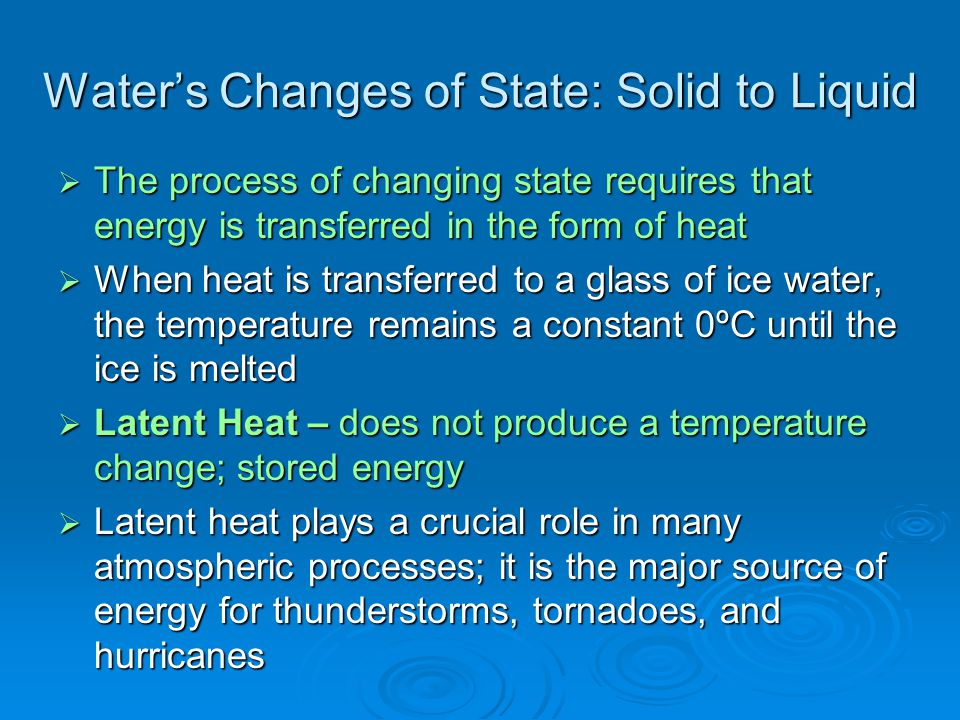 Water's Changes of State: Solid to Liquid
