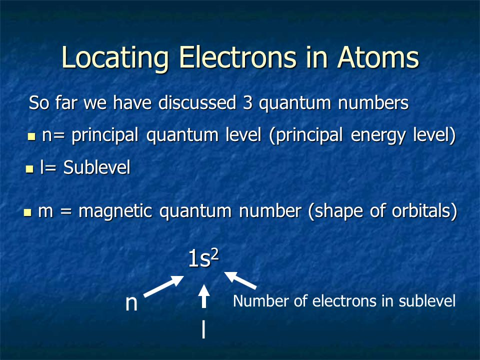 Locating Electrons in Atoms