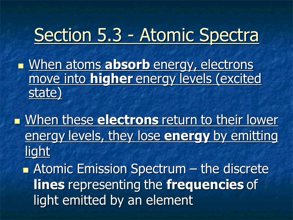 Section 5.3 - Atomic Spectra