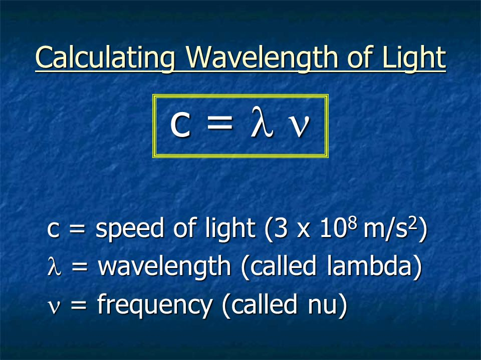 Calculating Wavelength of Light