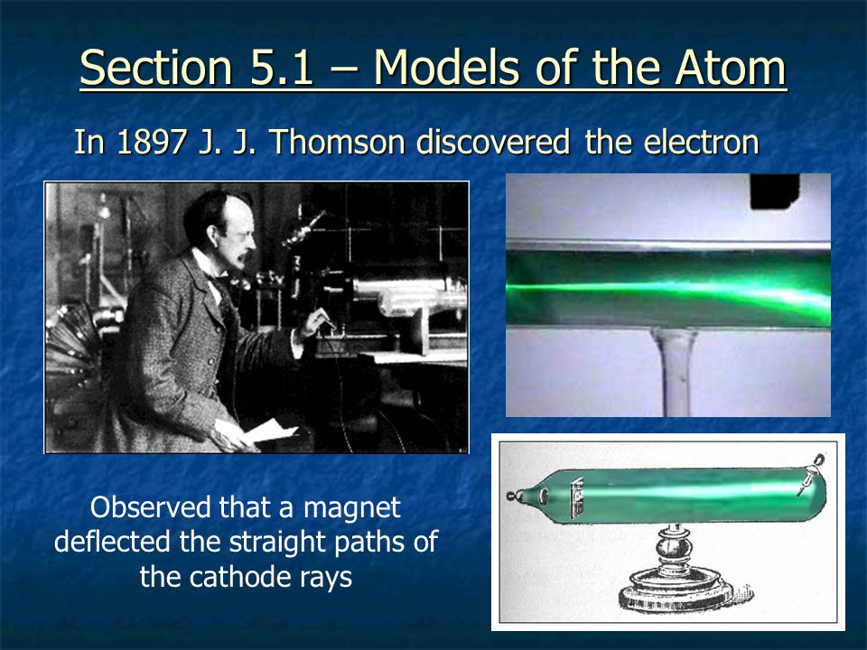 Section 5.1 – Models of the Atom