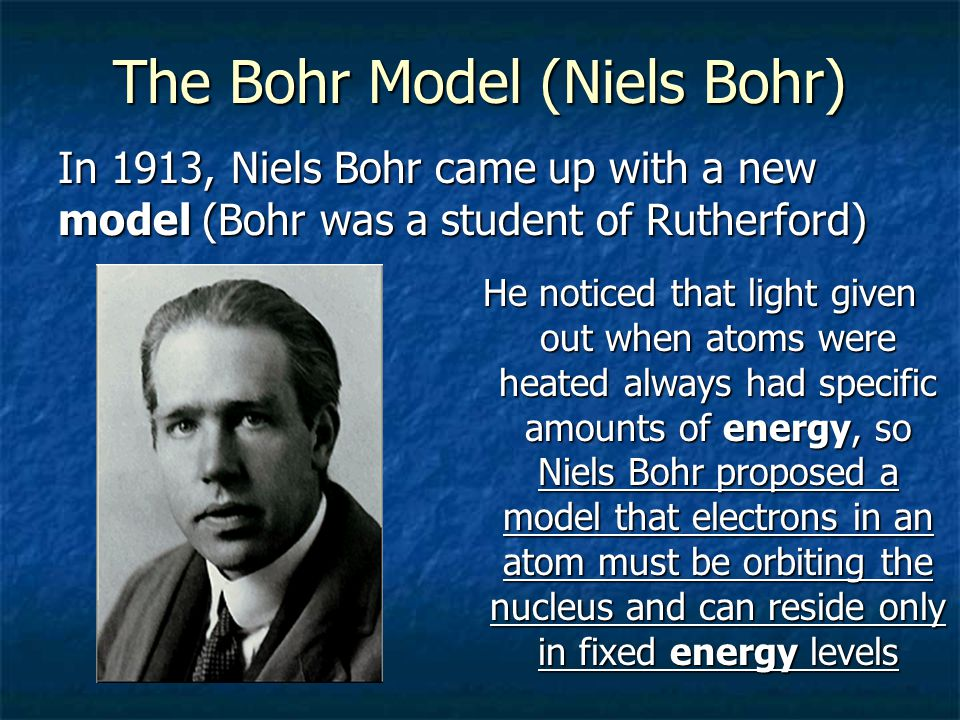 The Bohr Model (Niels Bohr)