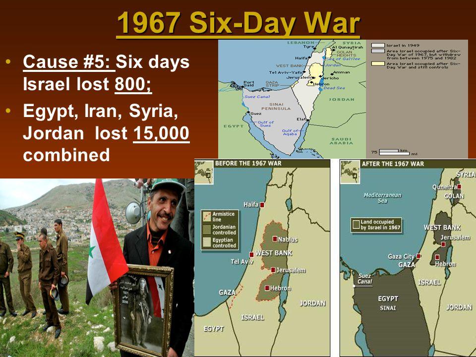 1967 Six-Day War Cause #5: Six days Israel lost 800;