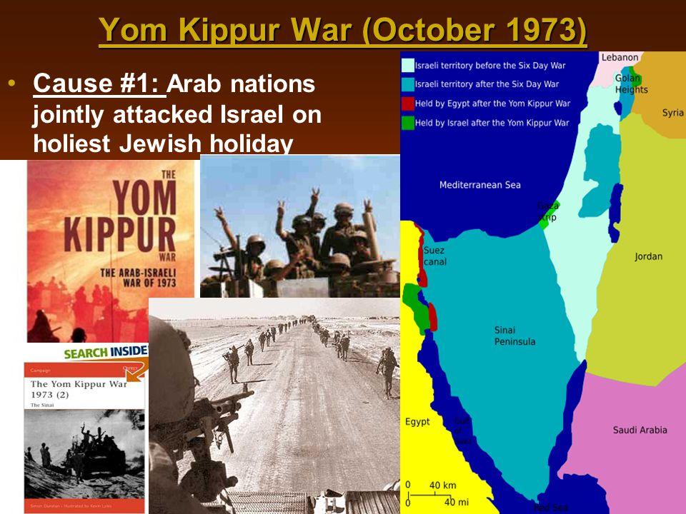 Yom Kippur War (October 1973)