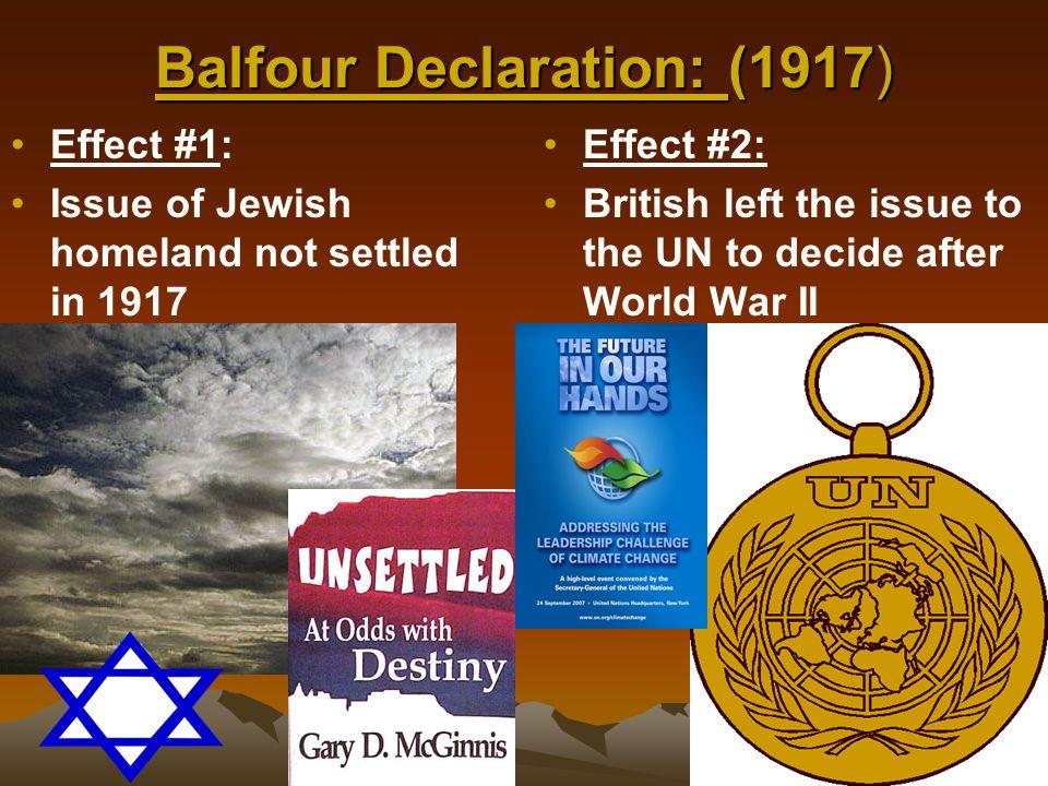 Balfour Declaration: (1917)