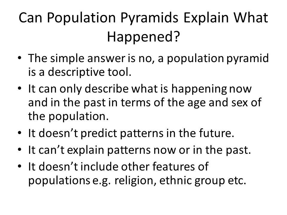 Can Population Pyramids Explain What Happened