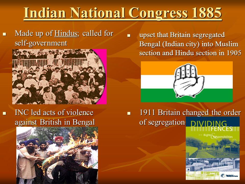 Indian National Congress 1885