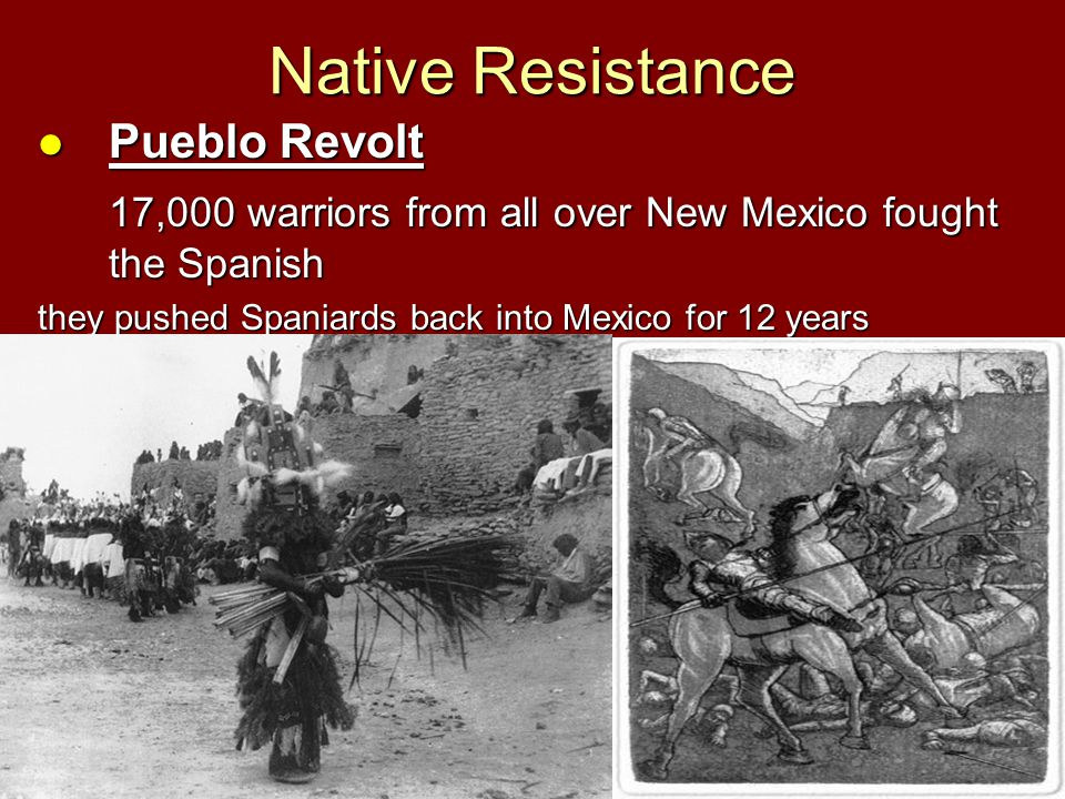 Native Resistance Pueblo Revolt