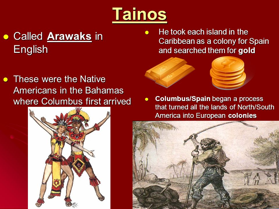 Tainos Called Arawaks in English