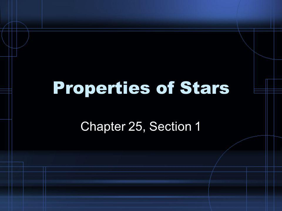 Properties of Stars Chapter 25, Section 1