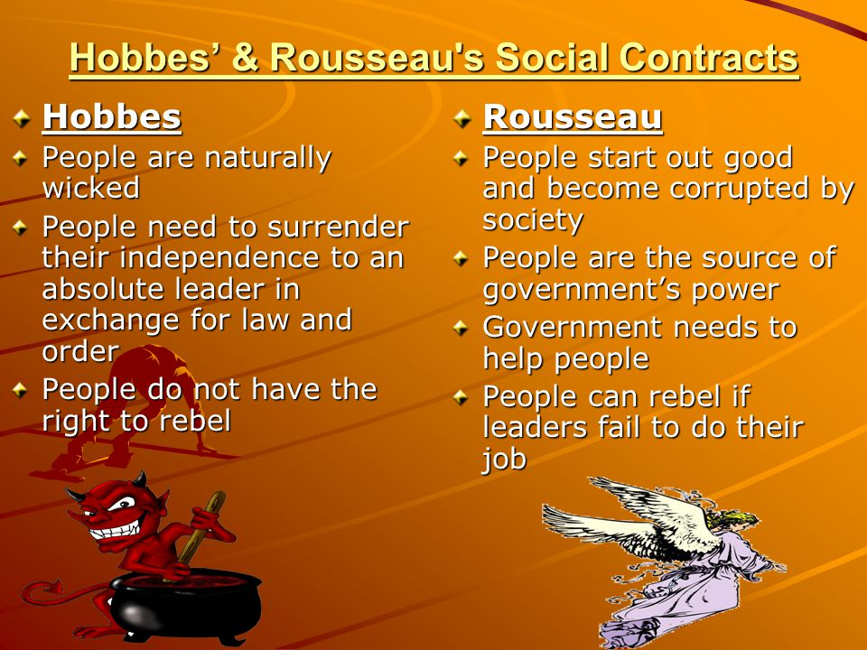 Hobbes' & Rousseau s Social Contracts