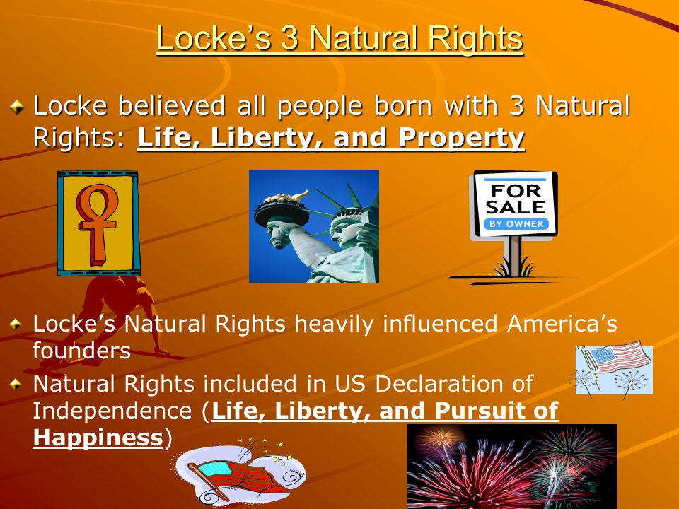 Locke's 3 Natural Rights