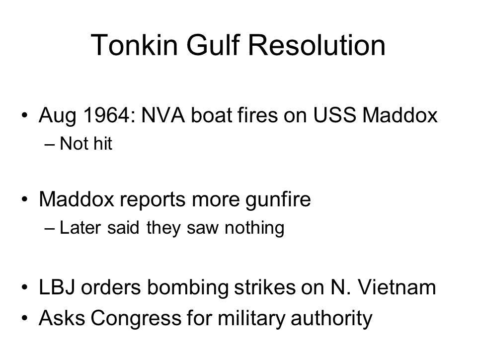 Tonkin Gulf Resolution