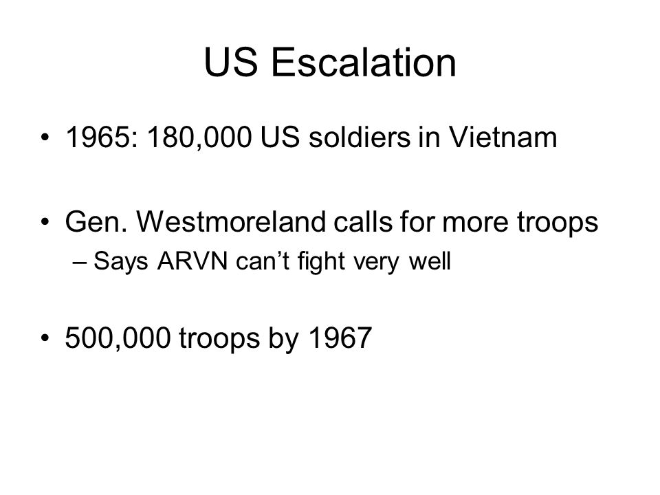 US Escalation 1965: 180,000 US soldiers in Vietnam