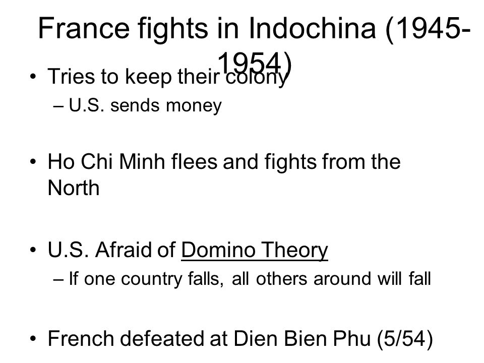 France fights in Indochina (1945-1954)