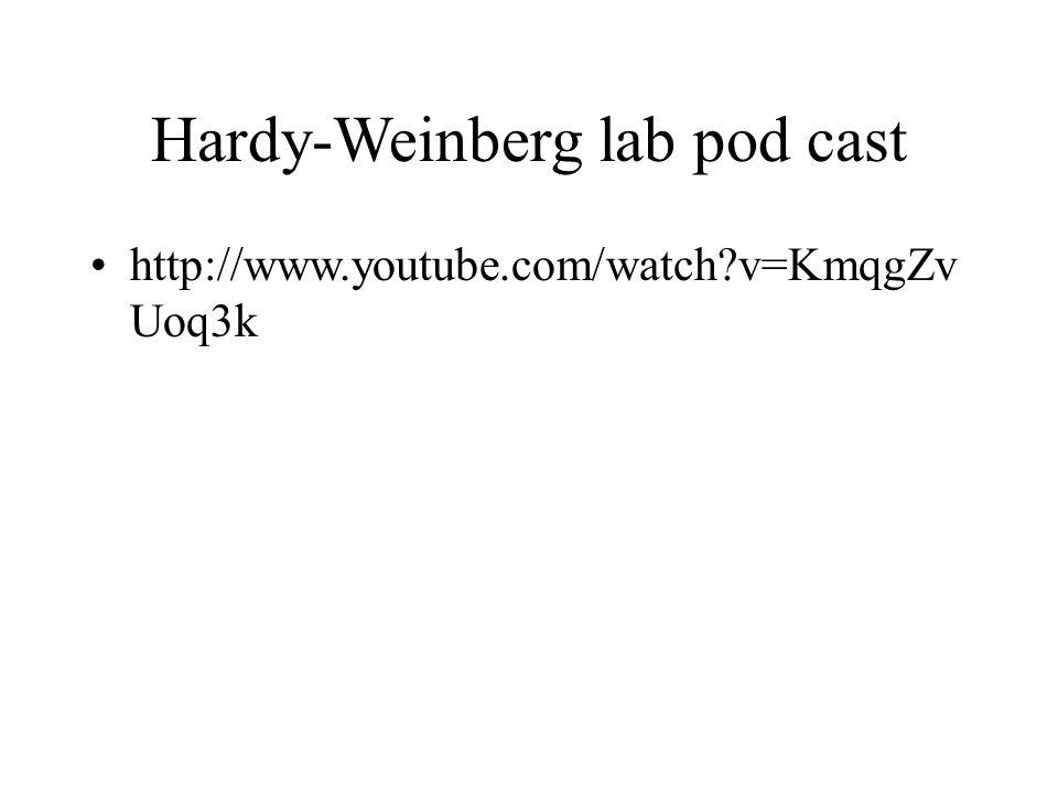 Hardy-Weinberg lab pod cast