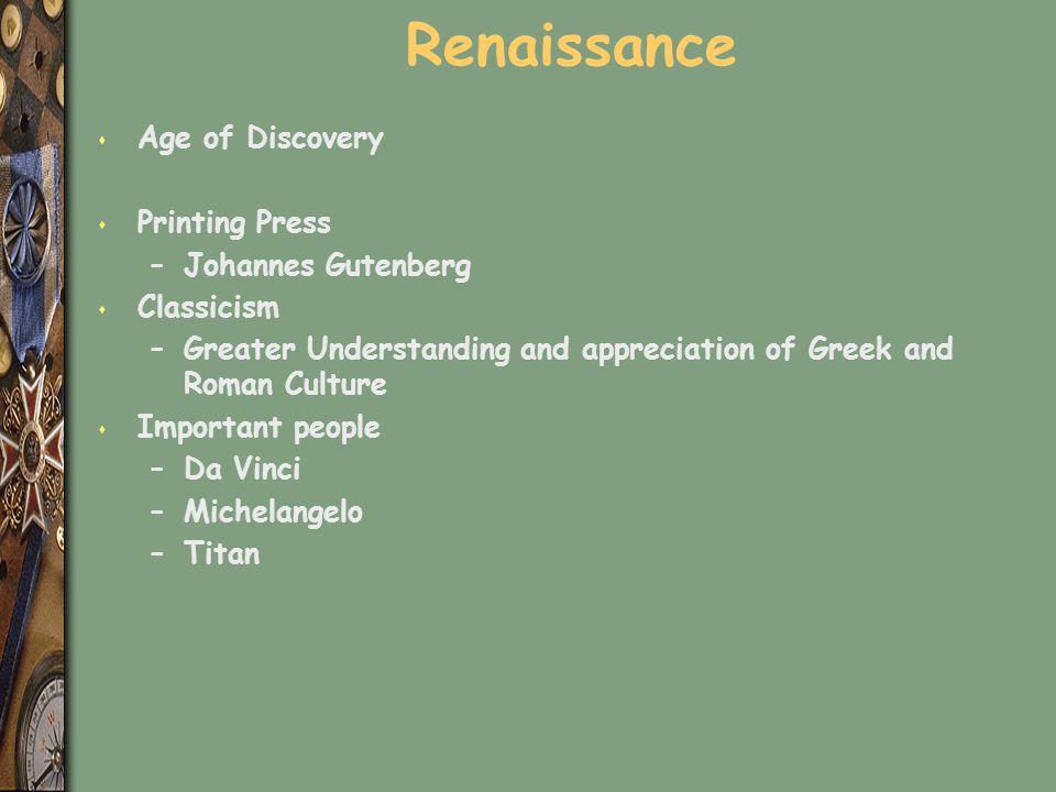 Renaissance Age of Discovery Printing Press Johannes Gutenberg