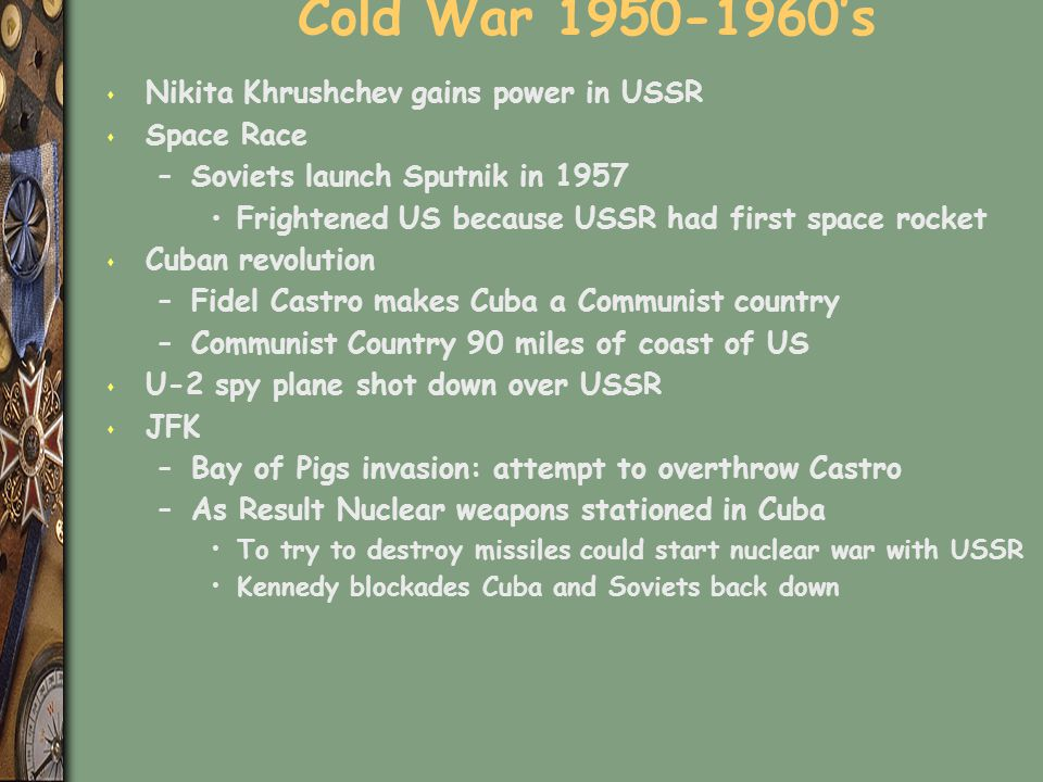 Cold War 's Nikita Khrushchev gains power in USSR Space Race